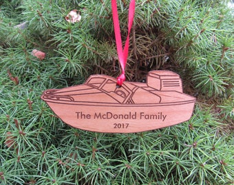 Speed Boat Ornament