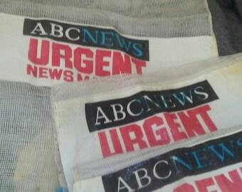 ABC News Onion Mesh Tape/Film Bag RARE
