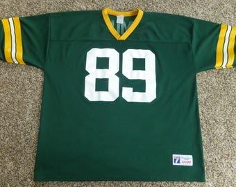 Vtg Mark Chmura Green Bay Packers NFL Logo 7 Jersey Sz Men's 2XL