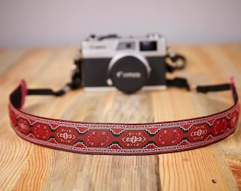 Camera Strap. Camera Strap With Persian Mmotif. Hand Made Camera Strap. Exotic Camera Strap. SLR, DSLR Camera Strap. Gift For Photographer.