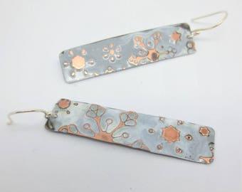 Snowflake Earring- Zentangle Inspired Earrings - Embossed Earrings - Colorful Jewelry - Inexpensive Jewelry - Gift
