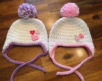 Crochet Heart Hat