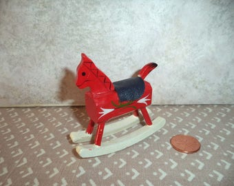1:12 scale Dollhouse Miniature Vintage Rocking Horse