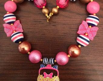"Shopkins ""Jingle"" Purse Chunky Bubble Gum Necklace (Child/Toddler)"