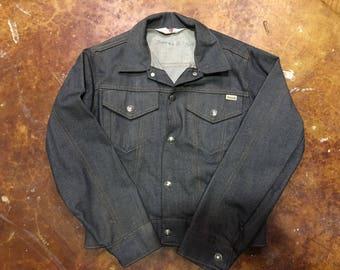 Vintage Sears Toughskin Denim Jacket, Size Boys 14