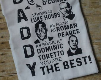 Fast and furious daddy tshirt