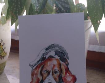 Dog portrait (1 card)