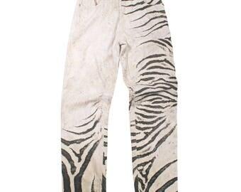 Vintage Zebra Stripe Trouser