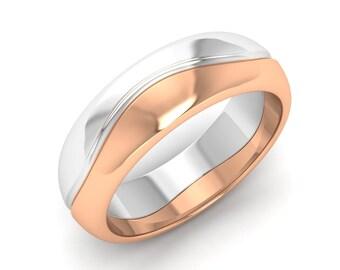 Mens Wedding Band Gold | 14K Gold Ring | Mens Gold Ring | Mens Band | Mens Anniversary Ring | Christmas Gift Ring | Mens Engagement Ring