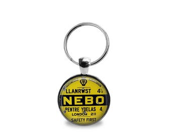 Vintage Safety Sign Key chain or Pendant