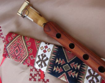 Handmade Pro Armenian Duduk in Fabric Ornament Case, made from Apricot Wood, Musical Instrument Doudouk in Key A Gift for him