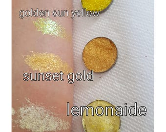 Yellow  Pressed Glitter Shadow
