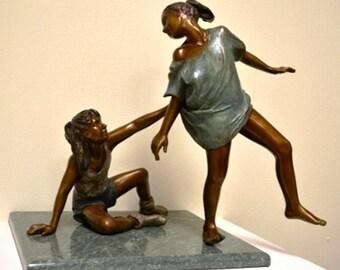 "Ellie Dolgin Sculpture ""Best Friends"""