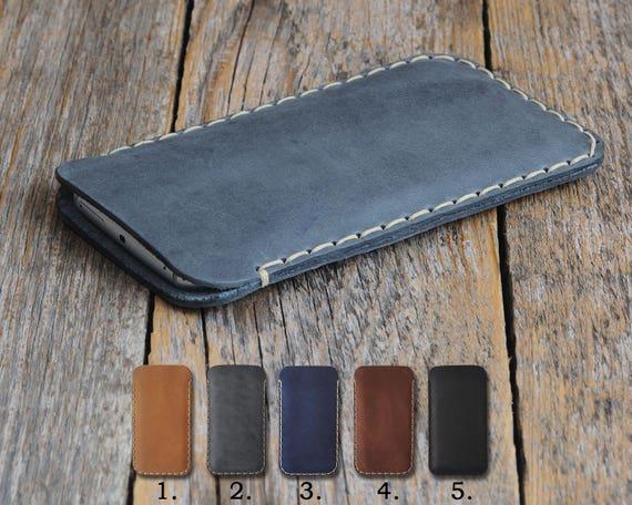 ZTE Blade X Max XL Max 3 Prestige 2 V8 Pro Grand 4 Avid Trio Tempo Fanfare Axon 7 mini  Case Handmade Rough Style Cover Waxed Leather Sleeve