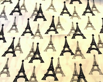 Coupon 50x55cm Eiffel Tower fabric