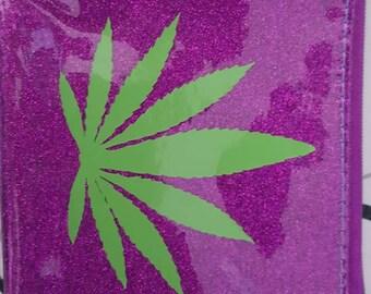 Pot leaf Makeup bag!!