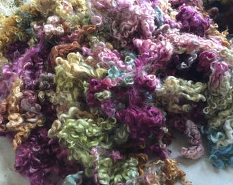 Dyed Teeswater Locks from Shaun and Seamus my Sheep:  2 oz bundle
