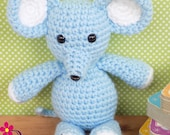 Blue Mouse Stuffed Animal  Crochet Mouse Stuffed Animal  Crochet Plush Mouse Toy  Mouse Snuggly Pal  Gift for Child  Child's Toy Mouse