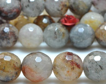 37 pcs of Natural Mixed Lodalite Quartz faceted round in 10mm (06812#)