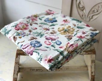 A beautiful vintage Sanderson sateen floral cafe curtain