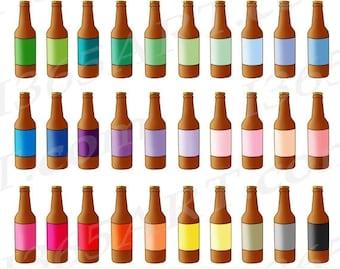 50% OFF Beer Clipart, Beer Bottle Clip Art, Root Beer Bottles, Soda Pop, Beer Party, Bottled Drinks, Planner Graphics, PNG, Commercial