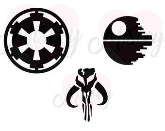 SALE! Star Wars Dark Side SVG, PNG, and STUDIO3 Cut Files for Silhouette Cameo/Portrait and Cricut Explore Craft Cutters