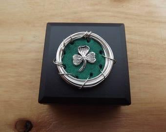 Shamrock Brooch Pin Irish Brooch