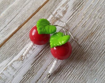 Luna Lovegood Inspired Radish Earrings. Dirigible Plum. Halloween. Childrens.  Cosplay. Harry Potter.