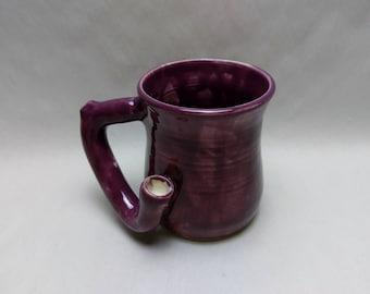 WAKE and BAKE MUG - Grape - Handmade Ceramic #655