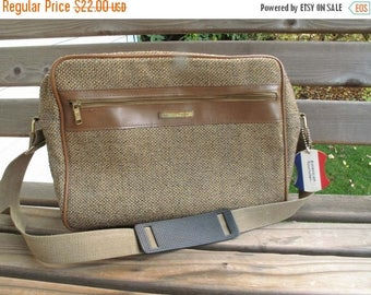 SUMMER SALE 20% OFF 1980s American Tourister Tweed Carry On Luggage Purse