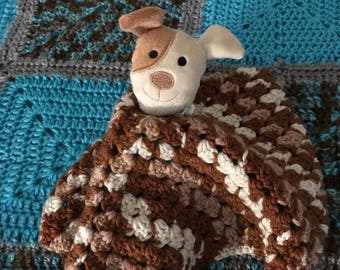 Crochet Puppy Lovey for Baby