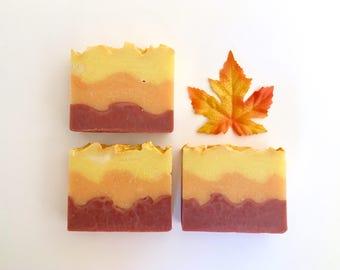 Autumn Breeze Artisan Soap, Handmade, Cold Process Soap, Gift For Her, Vegan Soap, Fall Soap, Hostess gift, Thanksgiving, Fall, Autumn