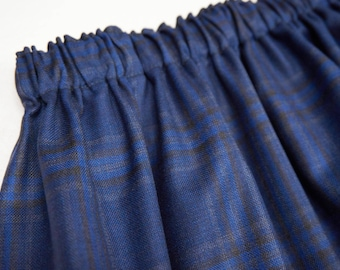 long wool skirt with elastic band