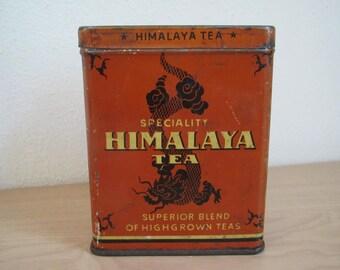 RESERVED - Himalaya Tea Tin
