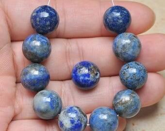 12mm  Natural  Lapis  Lazuli Gemstone Round 12mm Beads    12mm Focal Beads