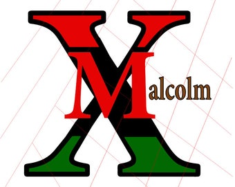 African American Malcolm X SVG Digital Download - Layered