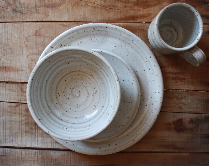 Salad Plate - Bowl - Mug - Dinner Ware Set - Handmade - Ceramics & Pottery - KJ Pottery