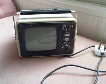 Vintage Retro TV Monitor Screen. Vega 342 Portable