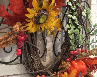 Oval Fall/ thanksgivng wreath