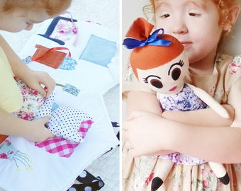 Fabric Dolls House and Ballerina Doll Pattern