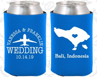 Blue Wedding, Blue Can Coolers, Blue Wedding Favors, Blue Wedding Gift, Blue Wedding Decorations (159)