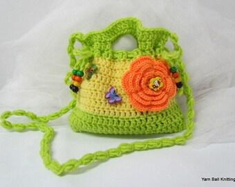 Small Crochet Purse. Crochet Clutch. Children's Crochet Purse.Crochet bag for Girls.