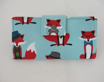 Fox Wallet, Womens Wallet, Handmade Ladies  Wallet