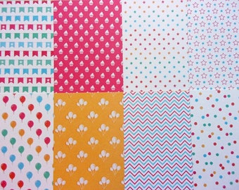 8 sheets creative Theme birthday party 30 x 15 cm new scrapbooking/cardmaking