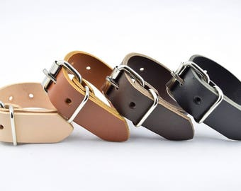 """Utility Strap Full Grain Leather 25mm (1"""") wide heavy duty nickel buckle luggage surplus military multi-purpose camping hampers tightening"""