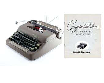 Smith Corona Portable Typewriter Owner's Manual - Early 1950s Smith-Corona  Typewriter Instructions Digital Download