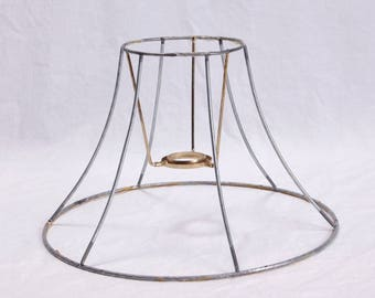 Vintage Lamp Shade Wire Frame - Lamp Harp - DIY Kit -  6-Sided Hexagon Lamp Shade -  Frame