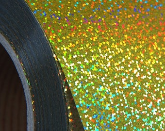 """Holographic Gold 20"""" Heat Transfer Vinyl Film By The Yard"""