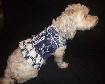 Cowboys Dog Harness Dress-XS to Med Plus