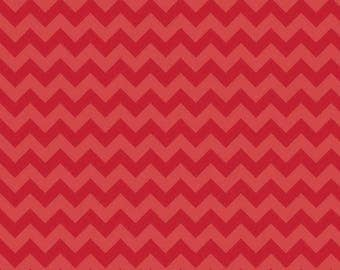 SALE Red Tone on Tone Chevron Small 3 Yards Riley Blake Cotton Fabric